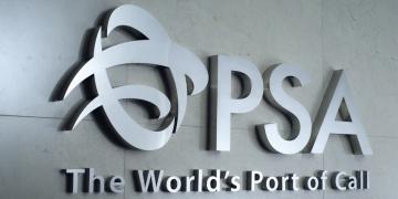 PSA Antwerp logo op muur